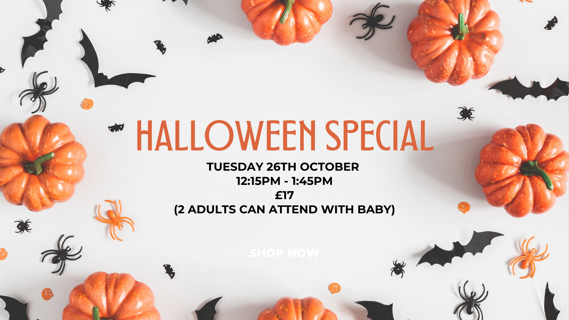 """Featured image for """"Halloween Special Party Class (8weeks to crawling) 12:15pm – 1:45pm"""""""