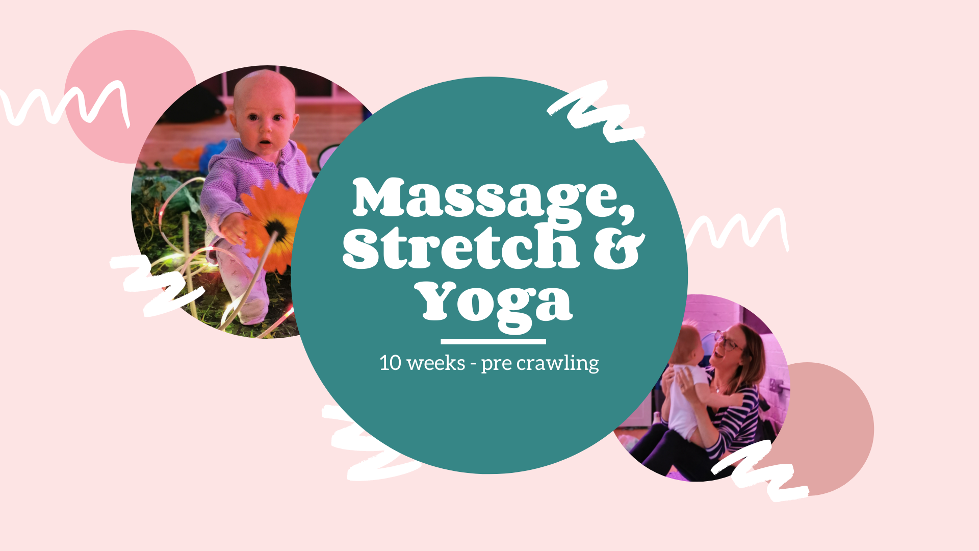 """Featured image for """"Massage, Stretch & Yoga (10 weeks to pre crawling) 6 week block"""""""