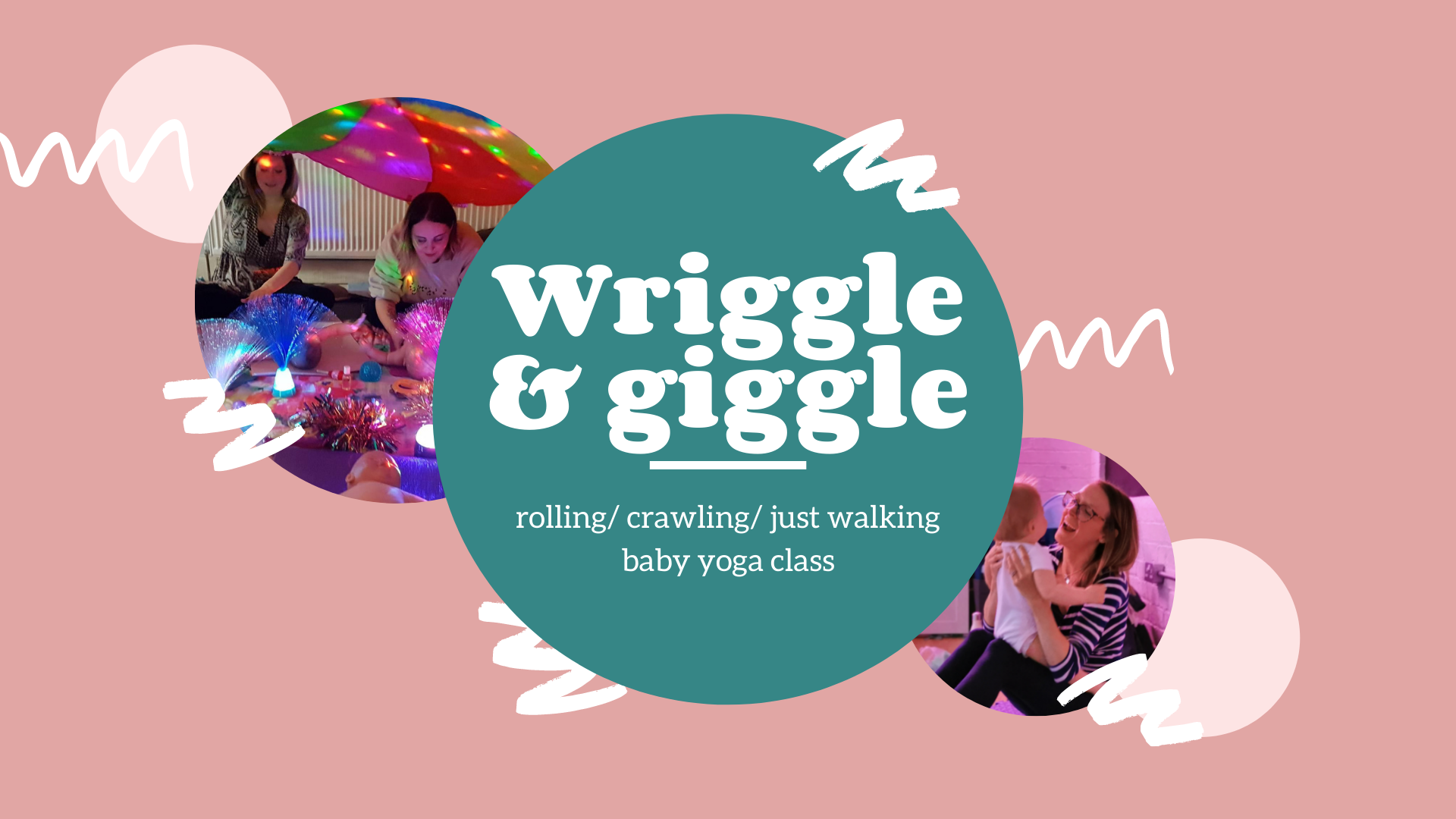 """Featured image for """"Wriggle & Giggle Yoga (Rolling/ crawling/ just walking) Mondays 9:45am"""""""